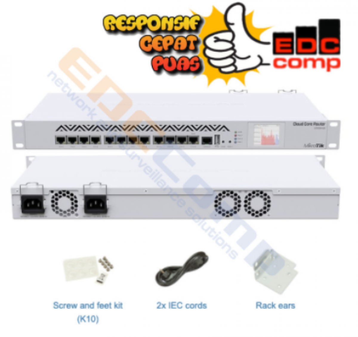 Routerboard CCR1016-12G - EdcComp