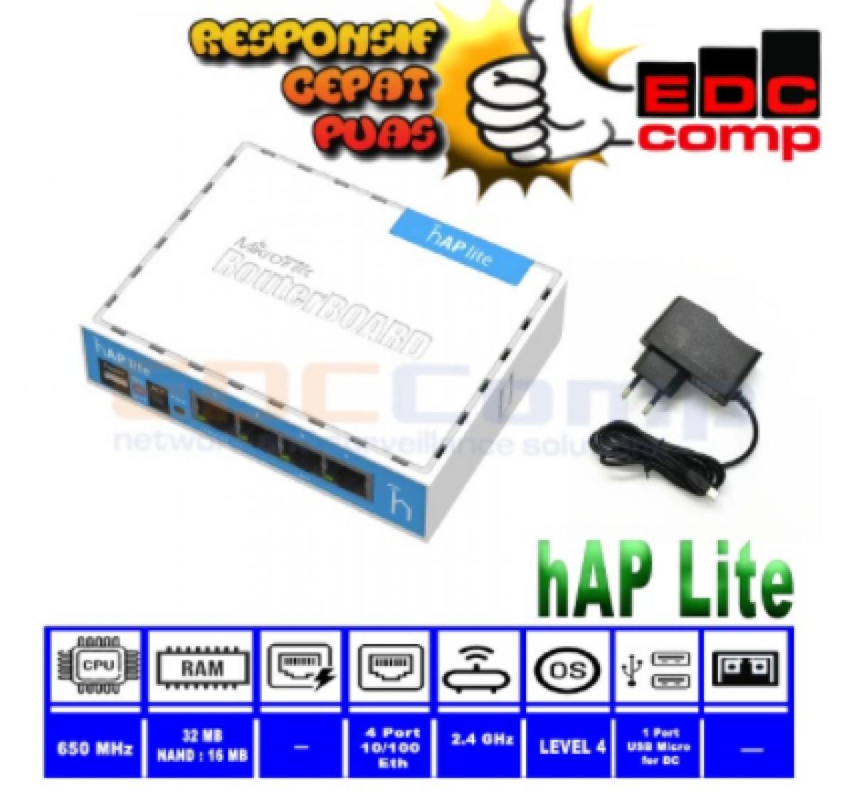 MikroTik RB941-2nD / hAP-Lite Hotspot Voucher MIKHMON MIKBOTAM - EdcComp