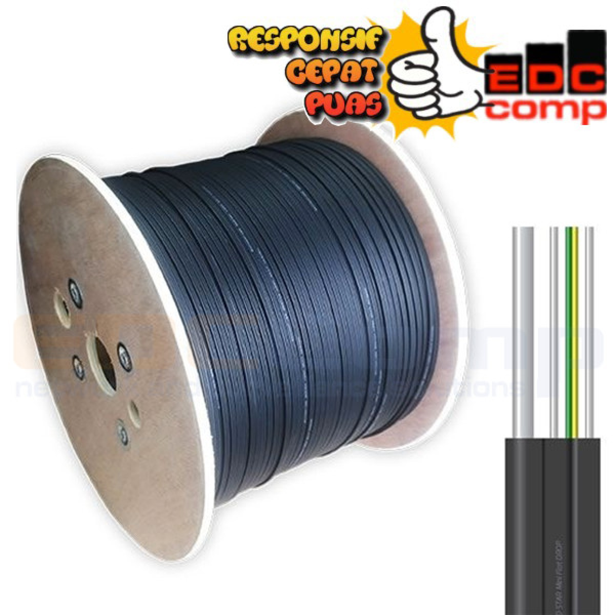 Kabe Fiber Optic Drop Core 2 Core SM/Cable FO Drop Core SM 2 Core - EdcComp