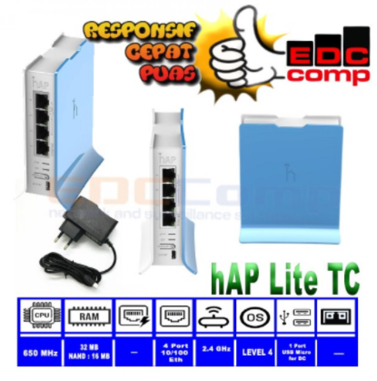 Router MikroTik RB941-2nD-TC / hAP-Lite2 - EdcComp
