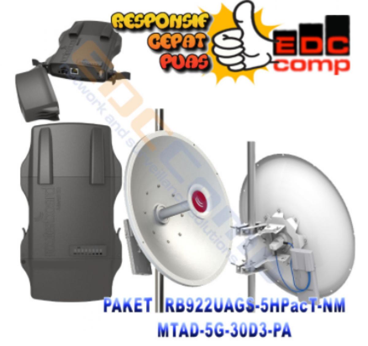 Paket MikroTik Netmetal 5-e / RB922UAGS-5HPacD-NM + MTAD-5G-30D3 - EdcComp
