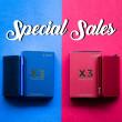 [ Merdeka Sales ] Red & Blue Combo Ultimate Discount - Simple Series
