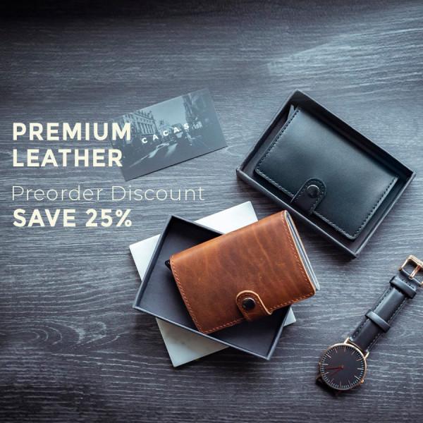 Premium Leather Combo - Cacas Premium + Cacas X-3 Limited Blue - Simple Series