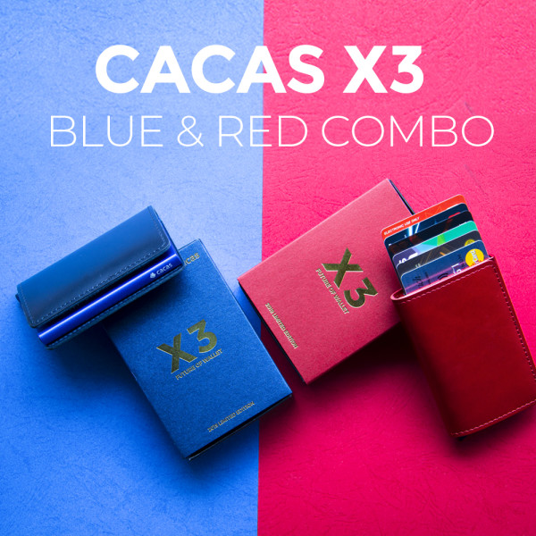 Cacas Premium X3 Limited Blue and Limited Red Combo - Simple Series