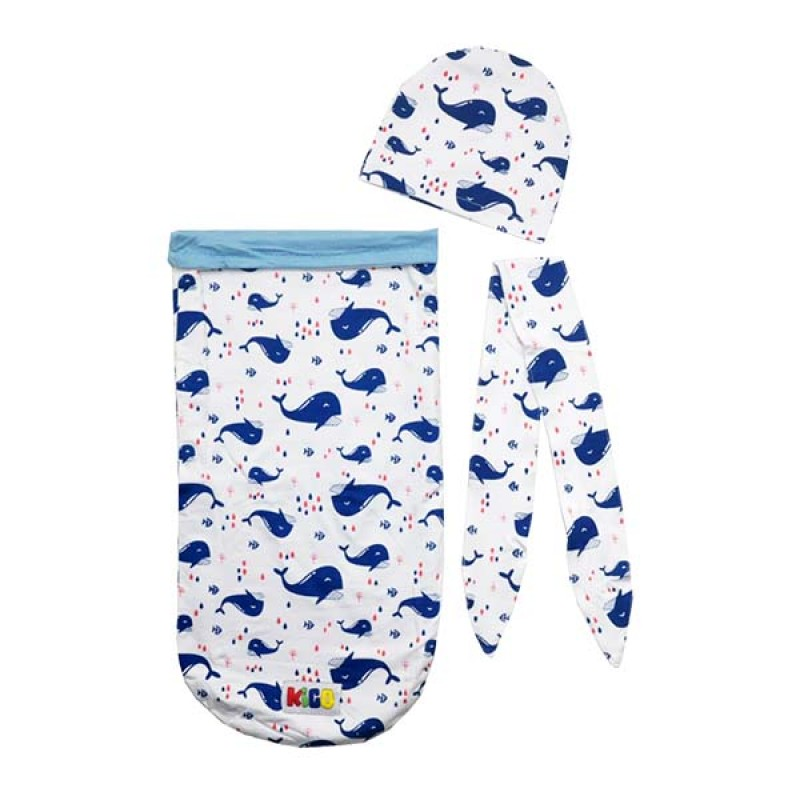 Toby Cocoon Swaddle 2 Layer (Free Head Band + Topi)