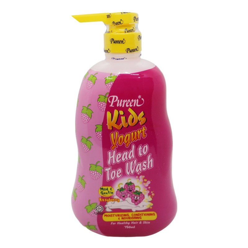 Pureen Kids Yogurt Head To Toe Wash Raspberry (750ml)