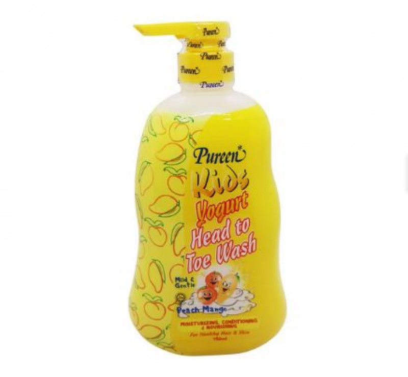 Pureen Kids Yogurt Head To Toe Wash Peach Mango (750ml)