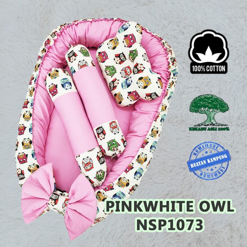 Pink White Owl