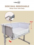 BABY COT (BESIDE CRIB WITH MATTRESS) - Kico Baby Center