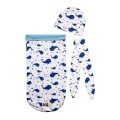 Toby Cocoon Swaddle 2 Layer (Free Head Band + Topi) - Kico Baby Center
