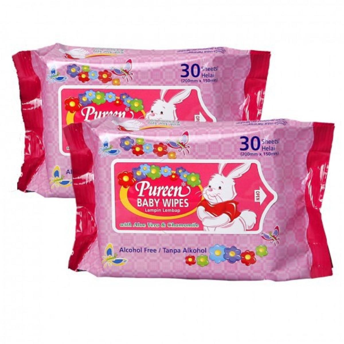 Pureen Baby Wipes (30 sheet) - Kico Baby Center