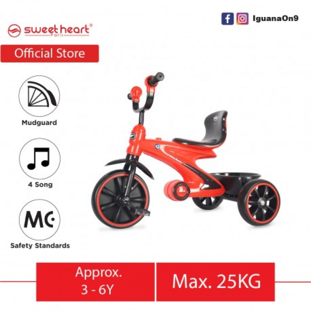 Simple Tricycle (Red) - Kico Baby Center