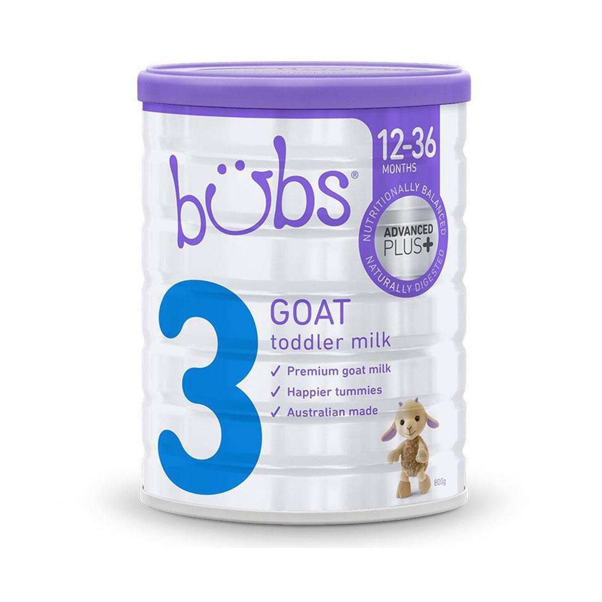 bubs - Organic Grass Fed Toddler S3 - 800gram - Kico Baby Center