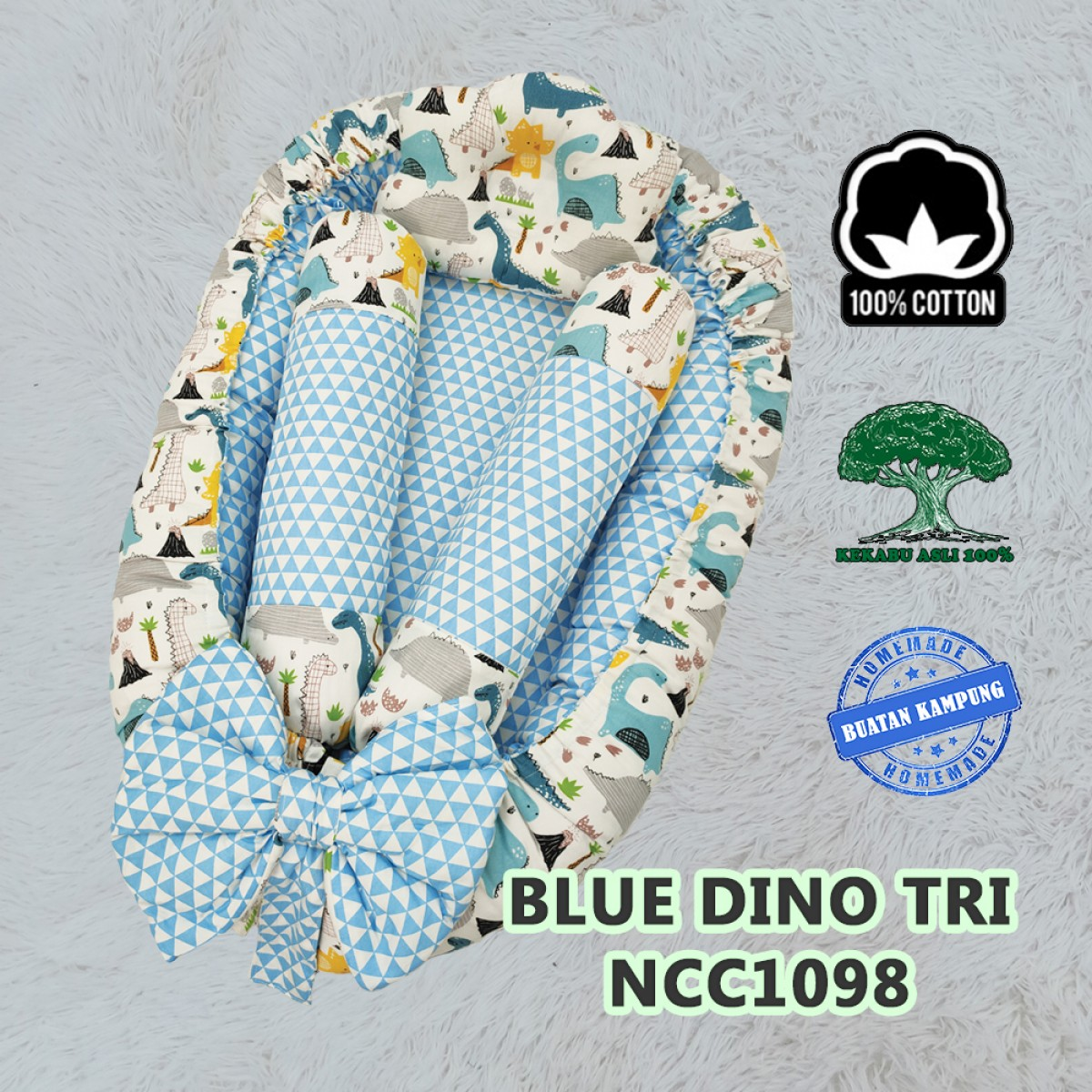 Blue Dino Tri - Kico Baby Center