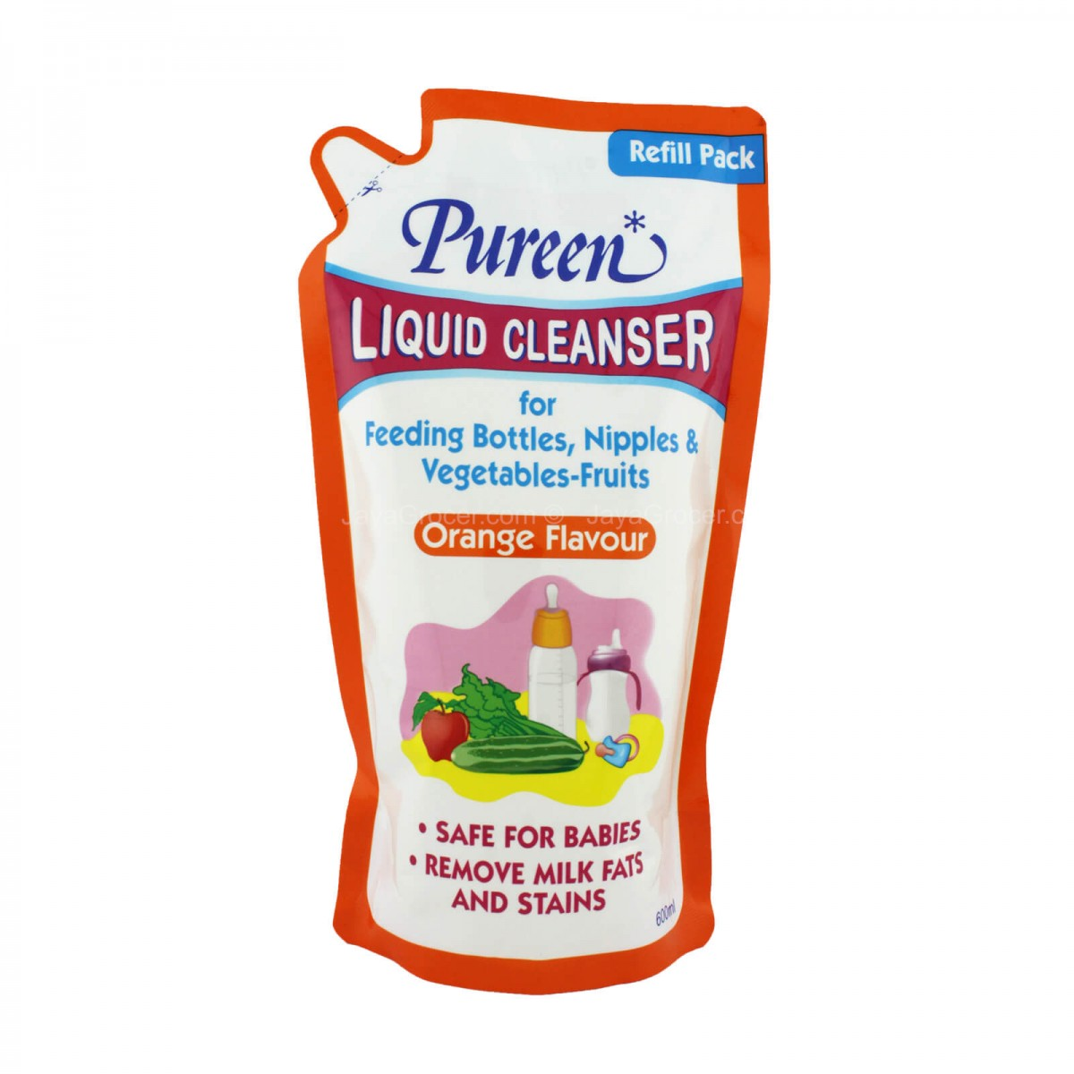 Pureen Liquid Cleanser Refill Orange Flavour (600ml) - Kico Baby Center
