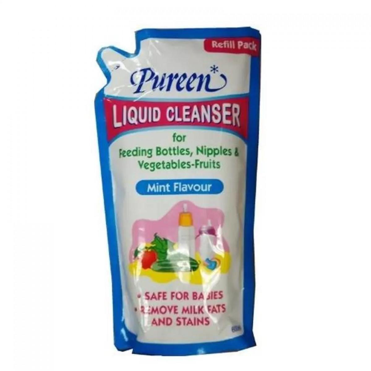 Pureen Liquid Cleanser Refill Mint Flavour (600ml) - Kico Baby Center
