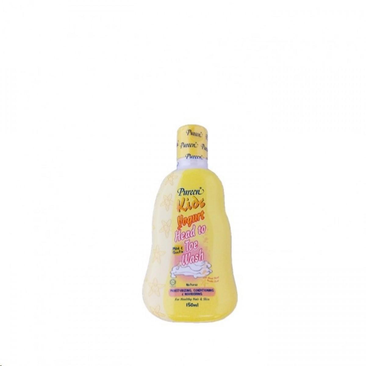 Pureen Kids Yogurt Head To Toe Wash Natural (150ml) - Kico Baby Center