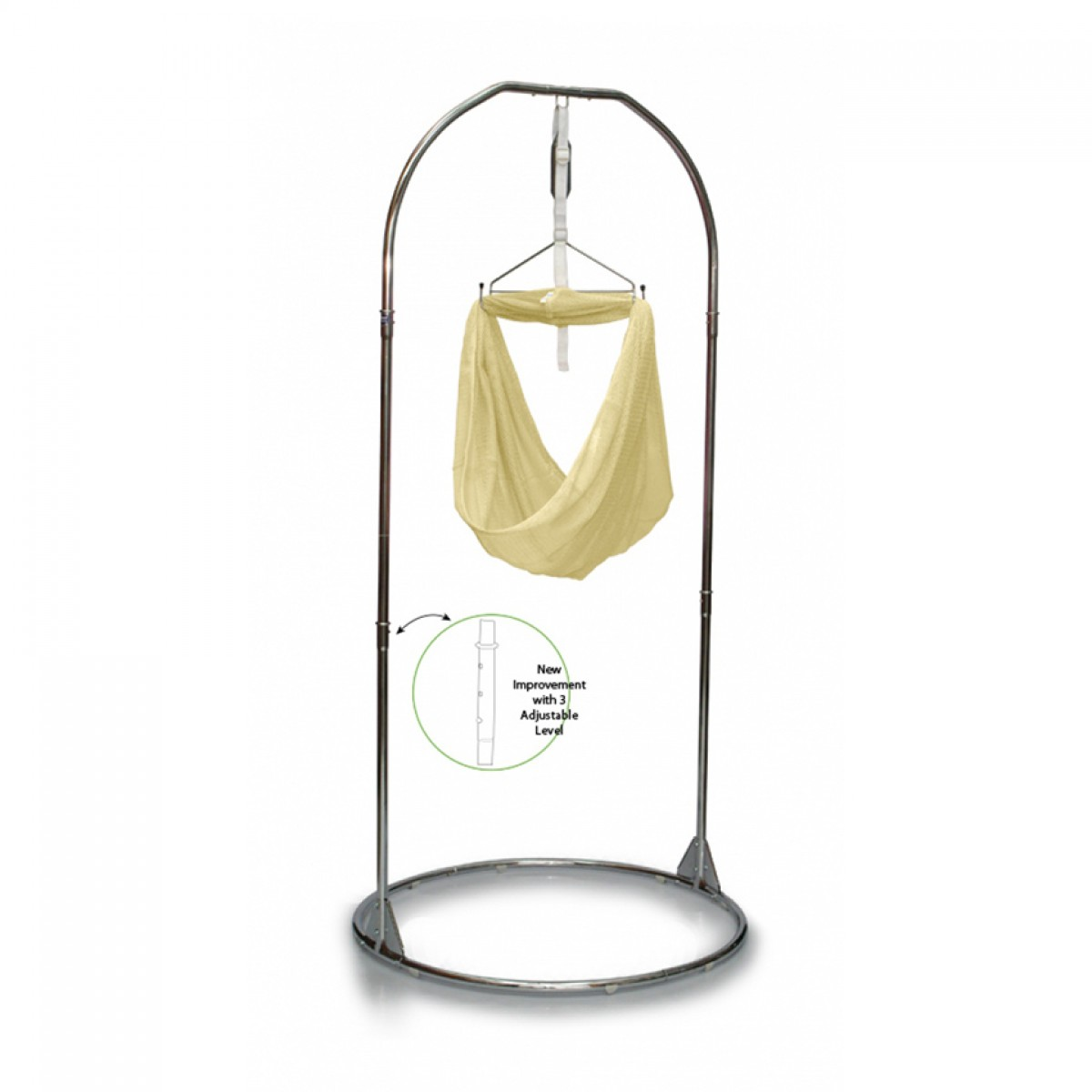 GUVI BABY SPRING COT (CHROME) - Kico Baby Center