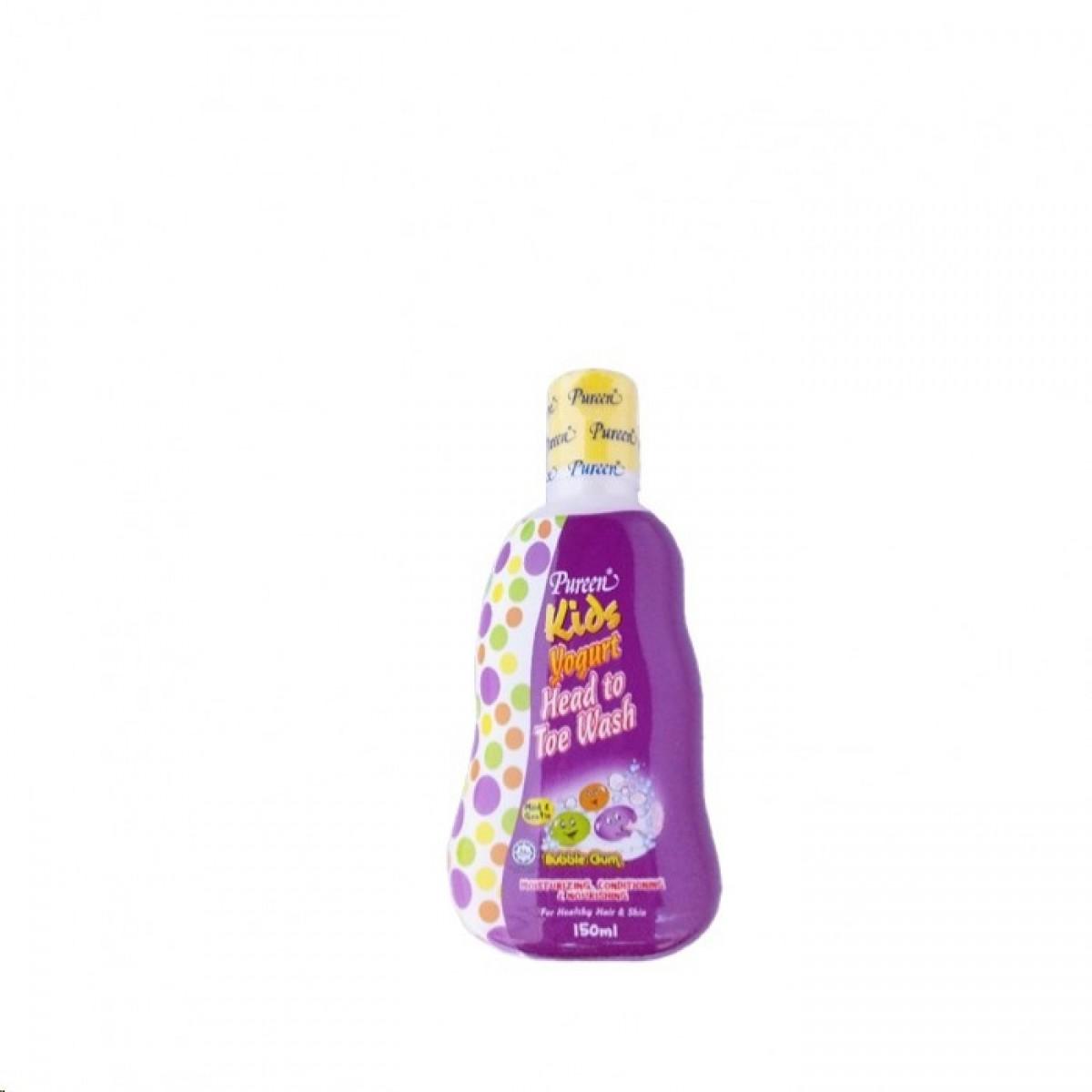 Pureen Kids Yogurt Head To Toe Wash Bubble Gum (150g) - Kico Baby Center
