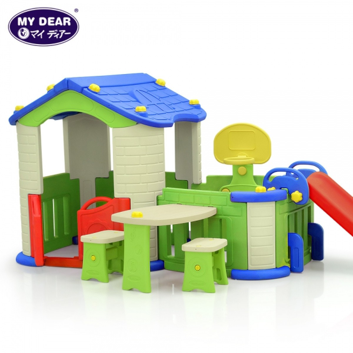 (Chd-356) Pink Big House With 3 Play Activities - Kico Baby Center