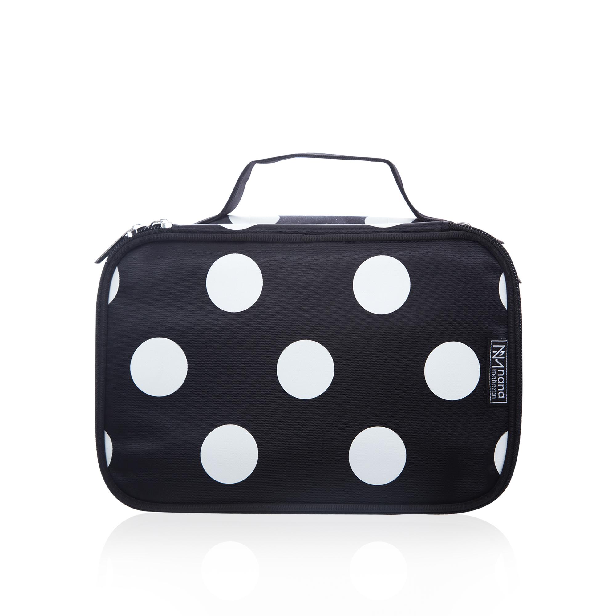 Makeup Bag Double Layer Zipper (Polkadot)
