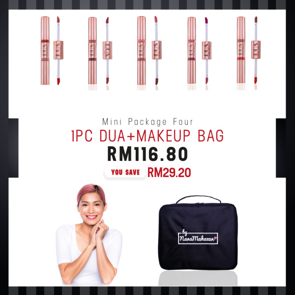 MINI PACKAGE FOUR 1PC DUA + MAKEUP BAG - Nana Mahazan Beauty