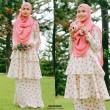 LYDIA DOUBLE LAYER PEPLUM - Wardatul Baydha Hijab