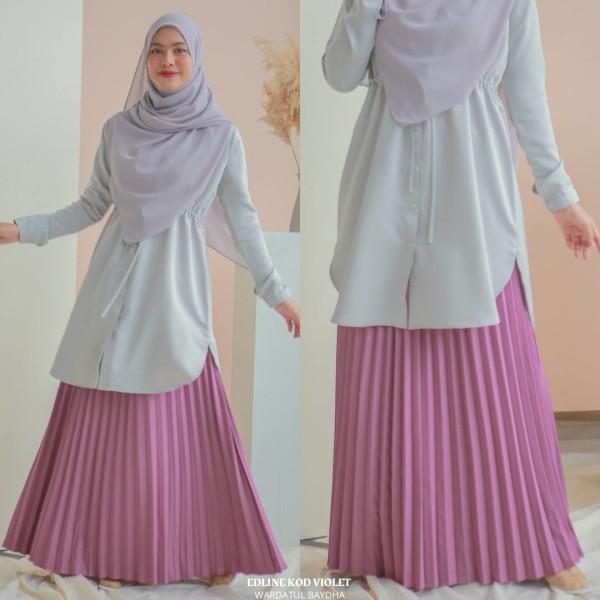 EDELINE PLEATED SKIRT - Wardatul Baydha Hijab