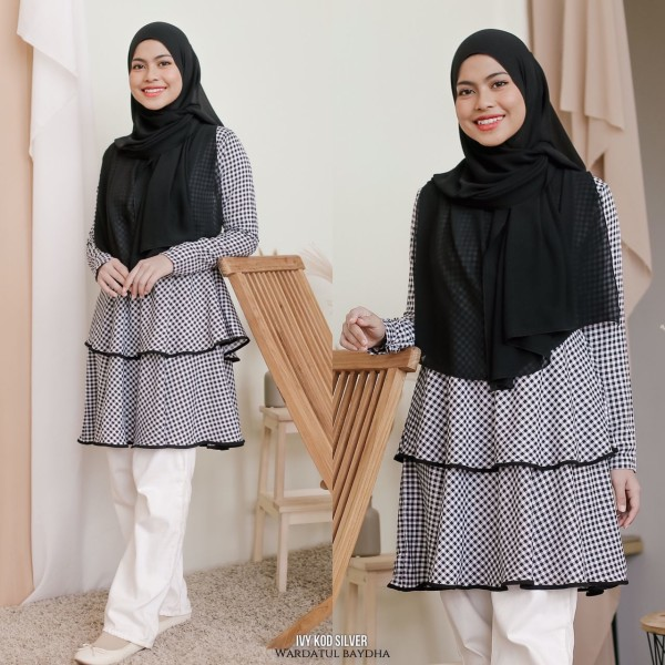 IVY PEPLUM DOUBLE LAYER AS-IS - Wardatul Baydha Hijab