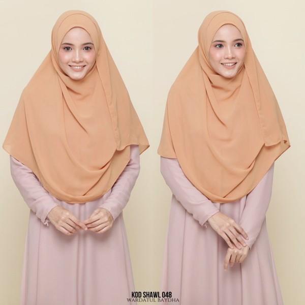 PLAIN SHAWL BUCU TAJAM - Wardatul Baydha Hijab