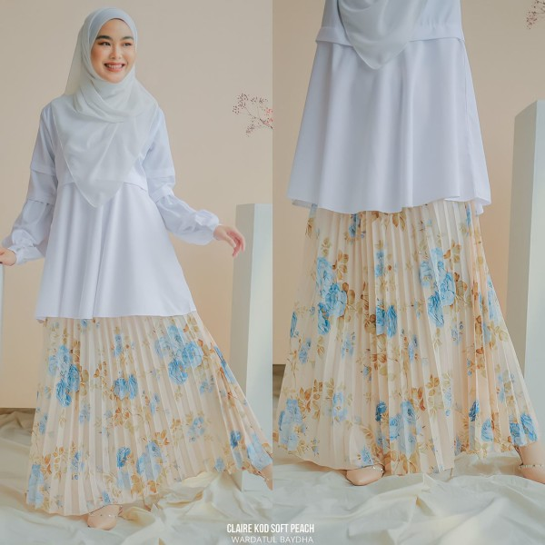 CLAIRE PLEATED SKIRT - Wardatul Baydha Hijab