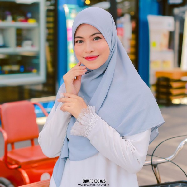 SQUARE PLAIN 2.0 AS-IS - Wardatul Baydha Hijab