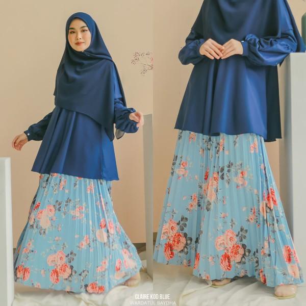 CLAIRE PLEATED SKIRT - Wardatul Baydha Hijab