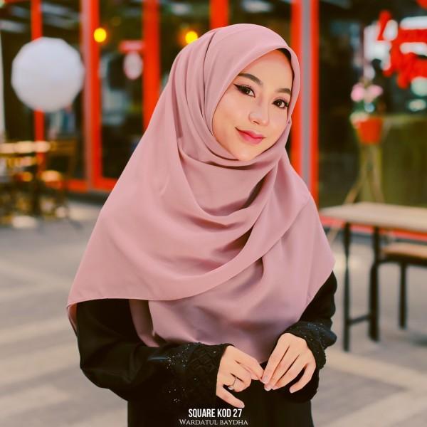 SQUARE PLAIN 2.0 AS-IS - Wardatul Baydha Hijab