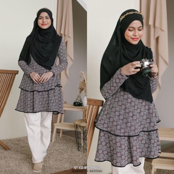 IVY PEPLUM DOUBLE LAYER - Wardatul Baydha Hijab