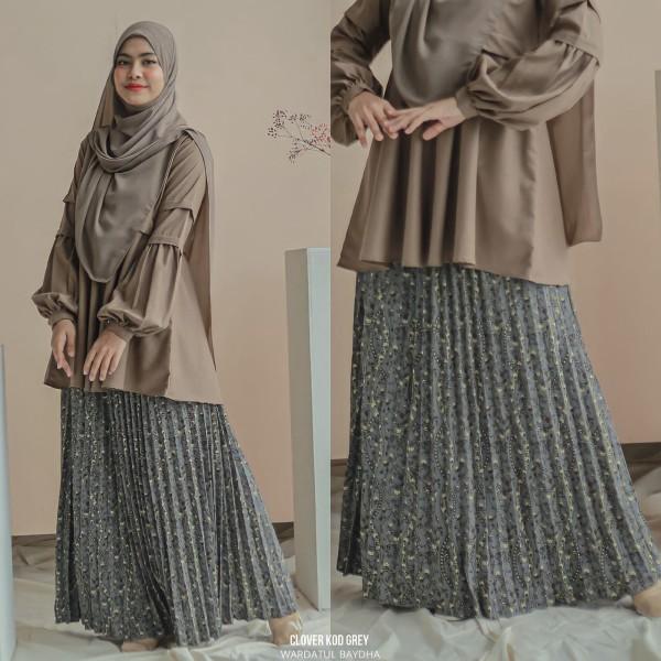 CECILIA PLEATED SKIRT - Wardatul Baydha Hijab