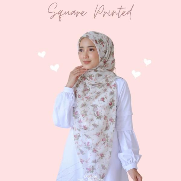 SQUARE PRINTED  - Wardatul Baydha Hijab