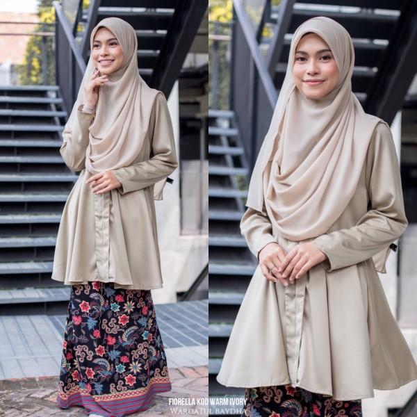 FIORELLA KEBARUNG PEPLUM - Wardatul Baydha Hijab