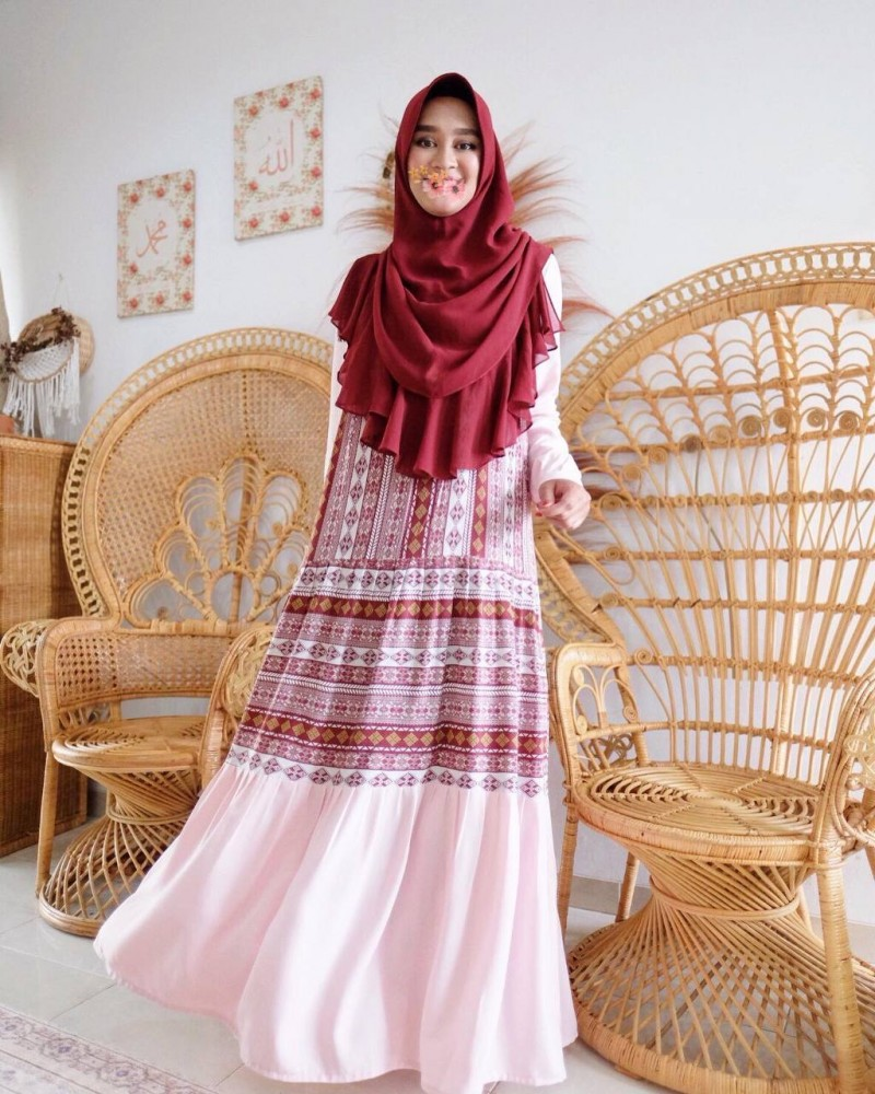 GHANIA ETHNIC DRESS - CANDY PINK