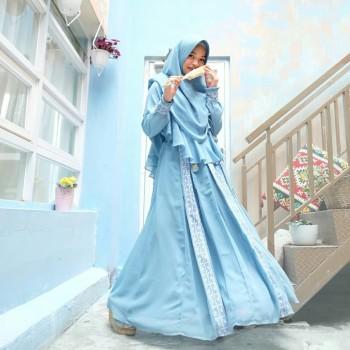HANIFA DRESS IN BLUE ( ONLY DRESS)