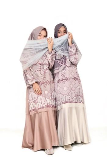 ALHMABRA DRESS ROSEGOLD