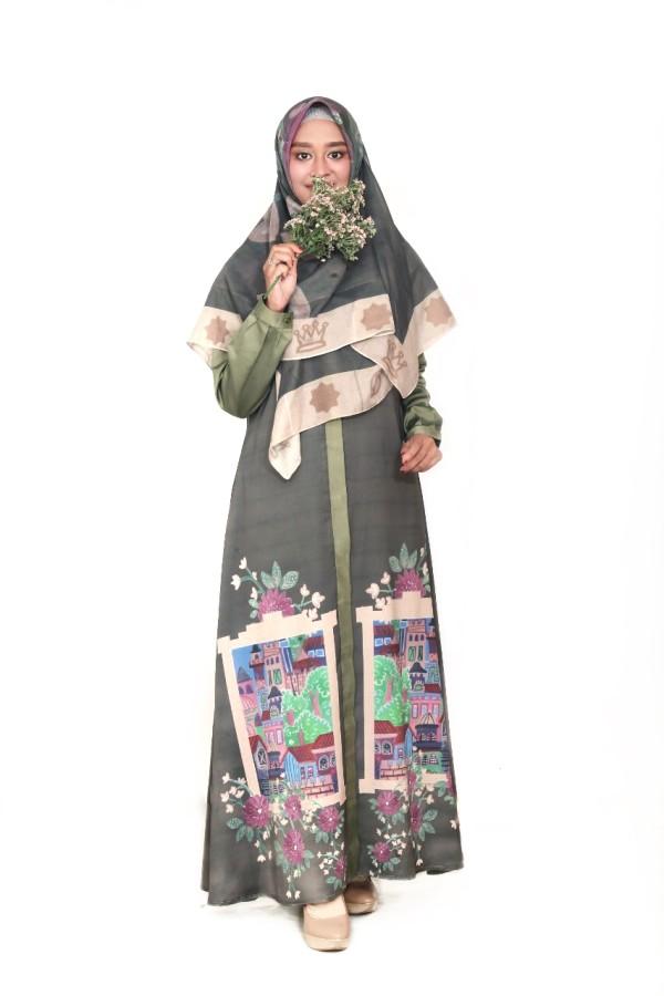 CASTLE DRESS OLIVE - GDa'S by Ghaida Tsurayya
