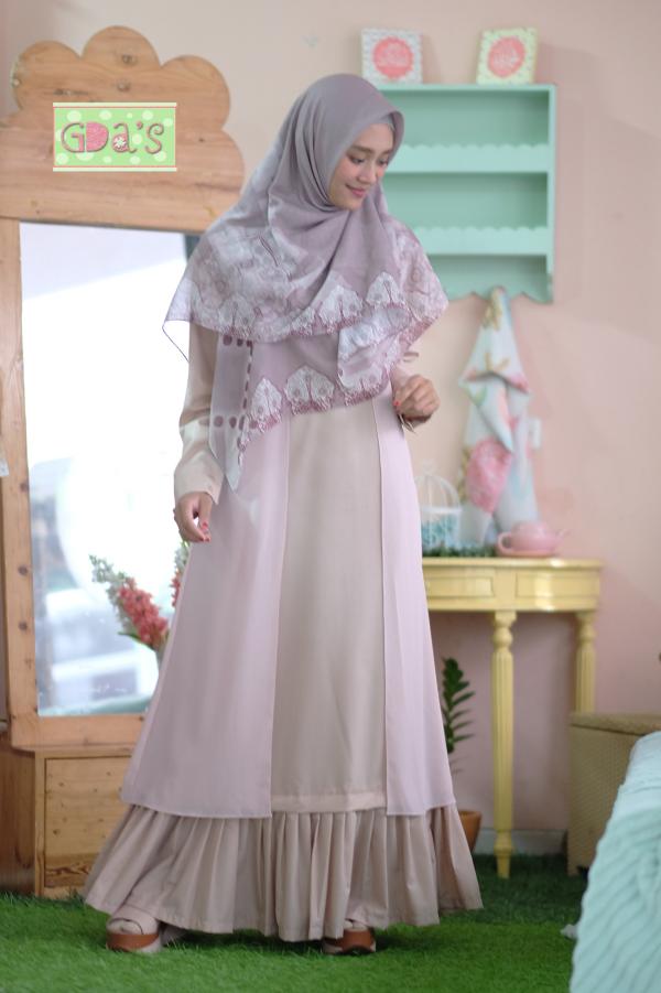 PINEAPLE RUFFLE DRESS IN NUDE - GDa'S by Ghaida Tsurayya