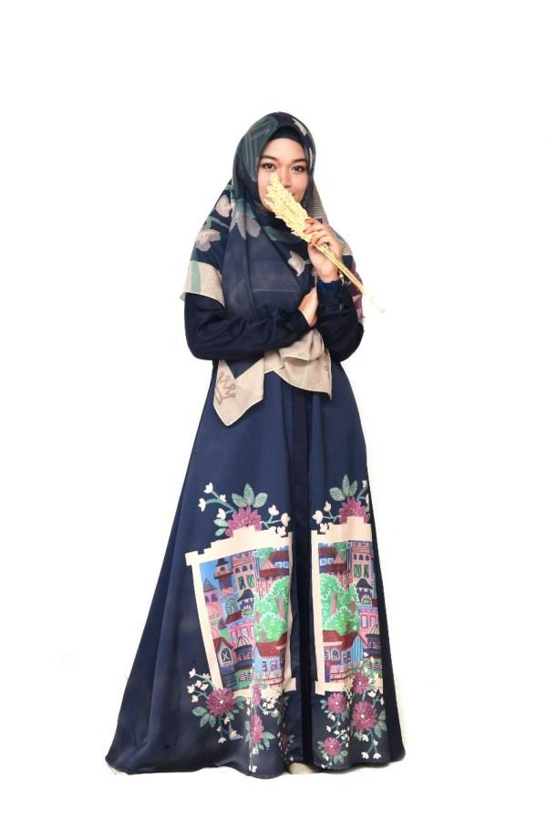 CASTLE DRESS NAVY - GDa'S by Ghaida Tsurayya
