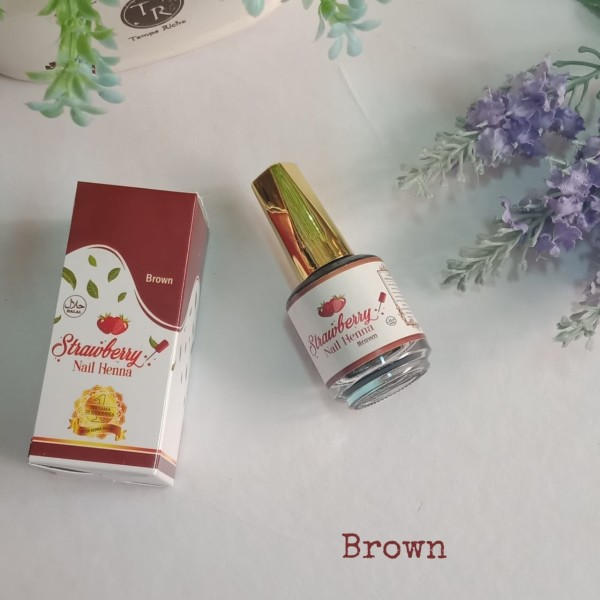 STRAWBERRY NAIL HENNA  BROWN - GDa'S by Ghaida Tsurayya