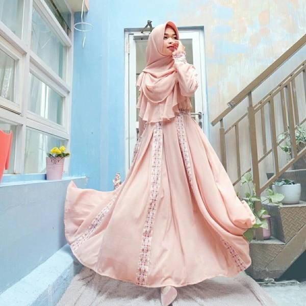 HANIFA DRESS IN PEACH ( ONLY DRESS) - GDa'S by Ghaida Tsurayya