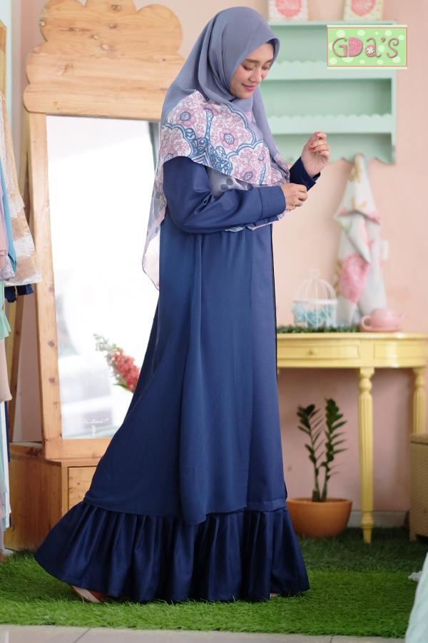 PINEAPLE RUFFLE DRESS IN NAVY - GDa'S by Ghaida Tsurayya