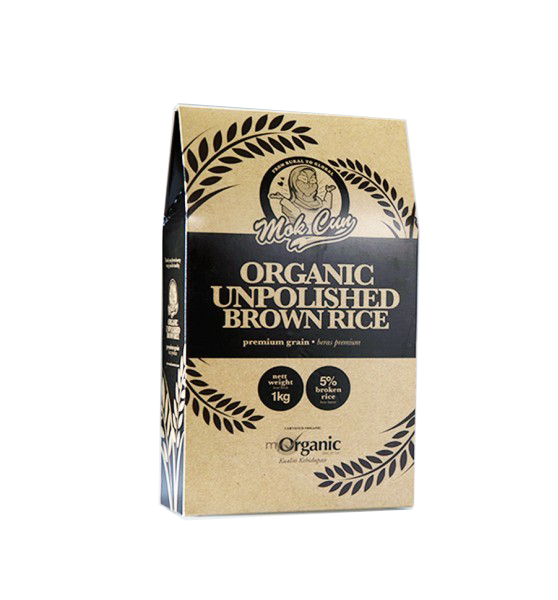 ORGANIC UNPOLISHED BROWN RICE 1KG