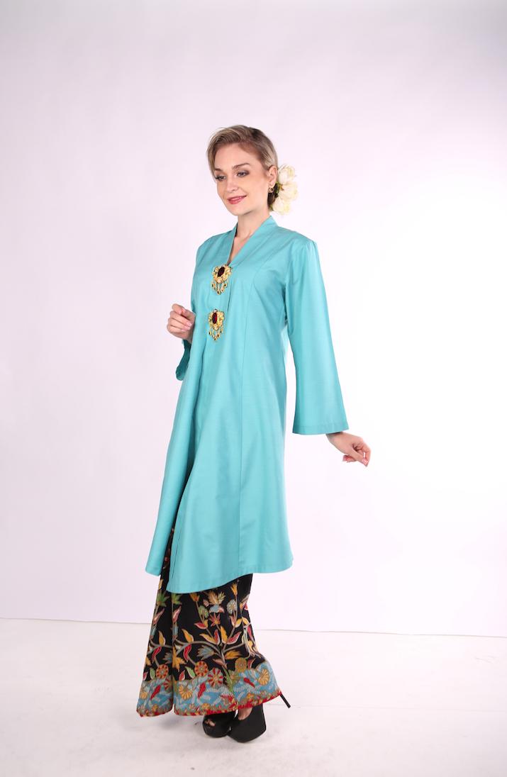 Kebarung Ayu Batik Mak Cun (Turquoise)