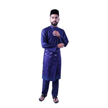 Baju Melayu Teluk Belanga Khalif (Dark Blue)